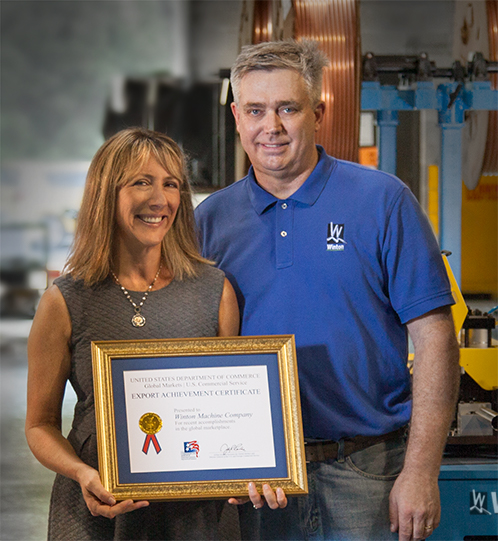 Lisa & George Winton Receive Export Award